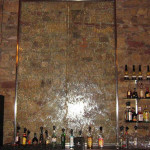 Wasserwand Glas in Raucher Bar