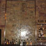 Wasserwand Glas in Bar