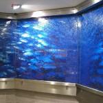 7m lange Wasserwand Glas mit Digitaldruck