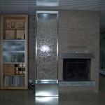 Wasserwand Glas in Privatwohnung