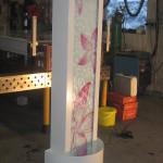 Edelstahl Wasserwand mit Digitaldruckfolie