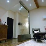 Wasserwand Glas in privat Wohnung