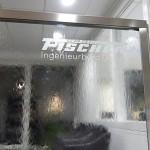 Wasserwand Glas in Planungsbüro als Raumteiler zum Wartebereich 2