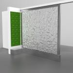 Wasserwand als Raumteiler