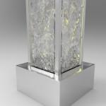 Entwurf Wasserwand 4-seitiger Quader