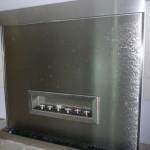 Wasserwand Edelstahl mit eingebautem Ethanol-Kamin